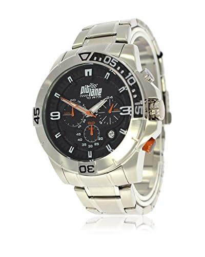 Pit Lane Reloj con movimiento Miyota Pl-1010-3 Plateado 45 mm