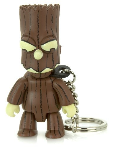 "Treeman Bart Brown : The Simpsons / Toy2r Qee Crossover Keychain Collection ~2.75"" Figure Series (Halloween Edition)"