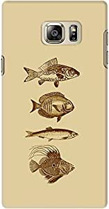 DailyObjects Fish Antiqued Case For Samsung Galaxy Note 5