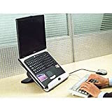 HandStands Adjustable Laptop Stand with USB Hub and 2 Quiet Fans ~ HandStands