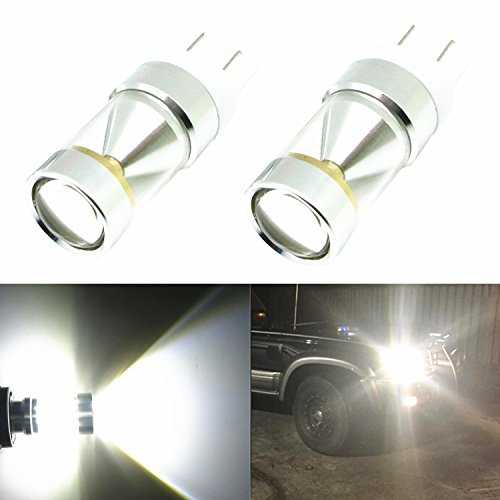 Alla Lighting Genuine CREE XB-D 7443 7440 T20 Xtremely Bright 6000K White LED Lights Bulbs for Auto Turn Signal Backup Reverse Brake Tail Lights Bulbs Lamp Replacement (7440/7443) (2004 Toyota Prius Brake Light compare prices)