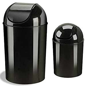 Combo of umbra grand 10 gallon recycling trash can waste receptacles container with - Umbra mini trash can ...