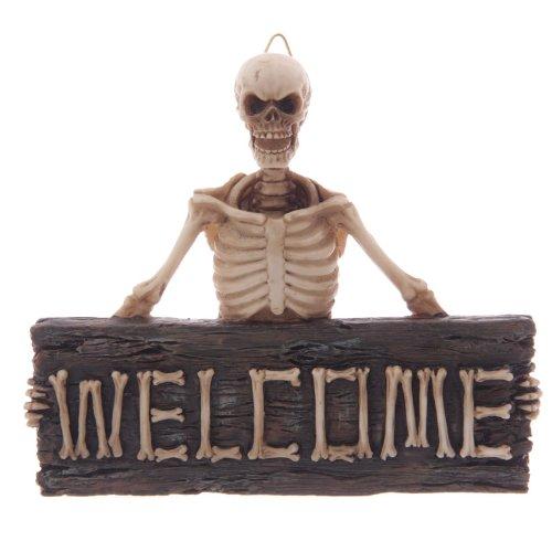 Targa di benvenuto welcome con scheletro in resina