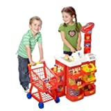Tesco Supermarket Playset Trolley Money Food Till Bnib (Do note the till is not an electronic one)