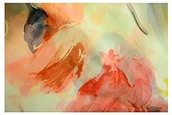 Silk Ponchos Pink, Red & Navy on Creme