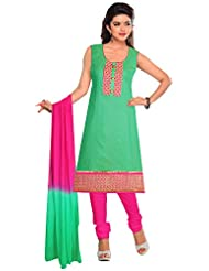 Elan Vital Women's Silk Cotton Straight Salwar Suit