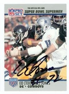 Ed Jones autographed football card (Dallas Cowboys) 1990 Pro Set #78 at Amazon.com