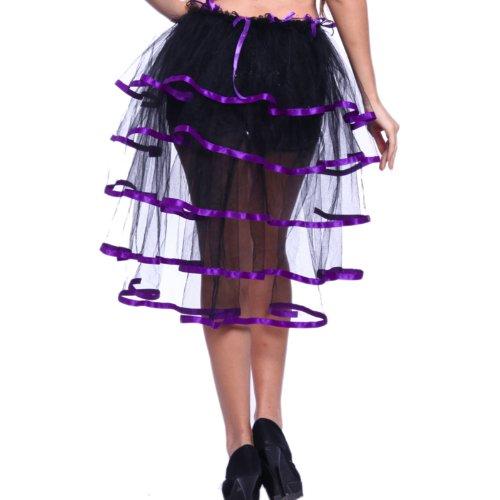 Sexy ROCK Burlesque Halbrock Crazy Chick tutu Tütü Schwalbenschwanz Rock für Karneval Partys Events Kostüme