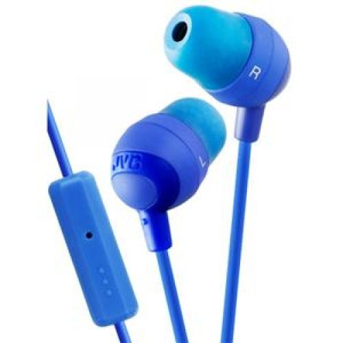 Jvc Earbuds W/ Mic And Remote Blue / Hafr37A /