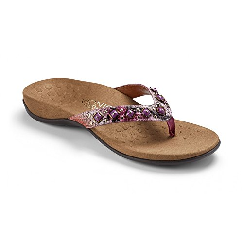 Vionic Womens Rest Floriana Toe Post Sandal Shoes, Pink Snake, US 8 (Shoes Inc Women Sandals compare prices)