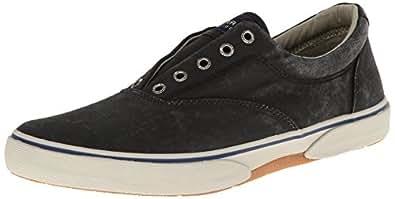 Sperry Topsider Men's Halyard Casual Slip On Shoe Black 13 M US