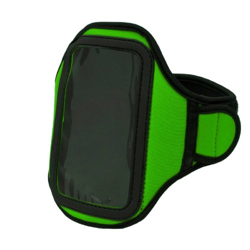 Athlete'S Choice Green Neoprene Workout Armband For Lg Optimus L9 / Lg Optimus G / Lg Optimus 4X Hd / Lg Optimus L7 / Lg Spectrum / Lg Splendor / Lg Spectrum 2 / Lg Optimus L9 Smartphones