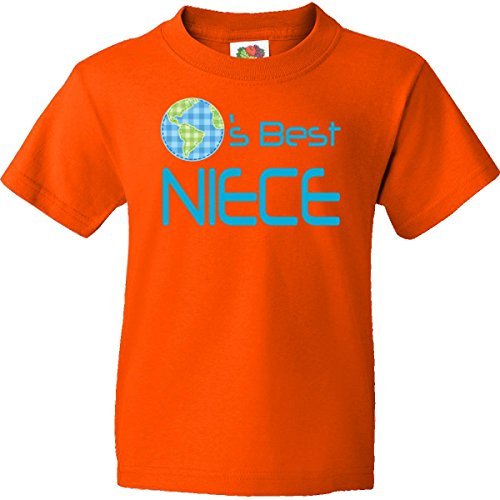 Inktastic Big Boys' Worlds Best Niece Youth T-Shirt Youth X-Large (18-20) Burnt Orange