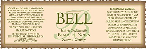 Nv Bell Wine Cellars Sonoma County Blanc De Noir Methode Traditionnelle 750 Ml