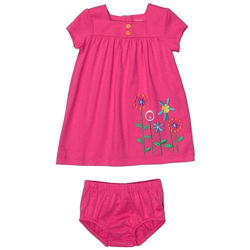 Carter's Flower Garden Dress With Panty PINK 9 Mo