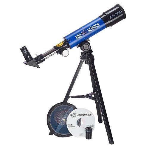 Edu Science Land & Sky 360 Tabletop Refractor Telescope - Blue
