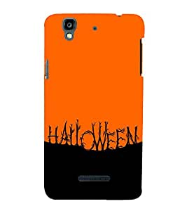 HAUNTED RED AND BLACK PICTURE DEPICTING HALLOWEEN 3D Hard Polycarbonate Designer Back Case Cover for YU Yureka::Micromax Yureka AO5510