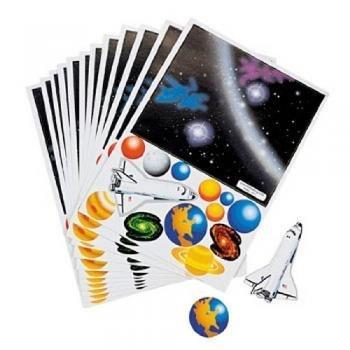 Make Your Own Solar System Sticker (1 Dz) Children, Kids, Game front-944603