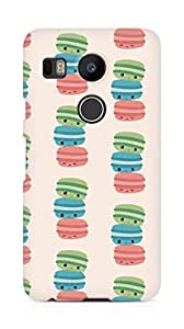 Amez designer printed 3d premium high quality back case cover for LG Nexus 5x (cute macroons colourful )