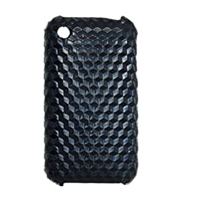 Faux Leather Coated Hard Plastic Back Cover Protector for iPhone 3G