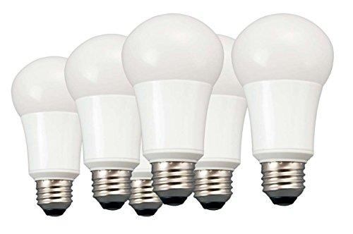 TCP 6 Pack of LED A19 - 60 Watt Equivalent Daylight (5000K) Light Bulb -#LA1050KND6