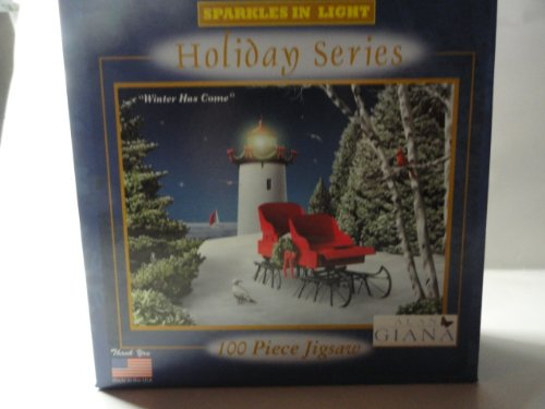"Holiday Series Sparkles in Light 100 Piece Jigsaw - Alan Giana ""Winter Has Come"""