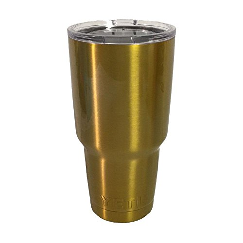Yeti Rambler 30 Oz, Stainless Steel, Powder-coated, Custom Colors (Pure Gold)