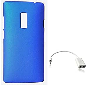 Tidel Blue Back Cover For OnePlus 2 With AUDIO SPLITER