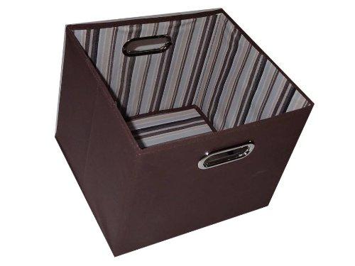 Alexi Ricci Chocolate Brown 11Hx11Wx11D Folding Storage Bin Orginization with Style