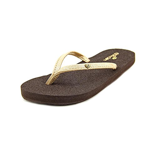 cobian Lil Nias Bounce Flip Flop , Gold, 6 M US Big Kid