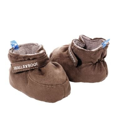 Wallaboo Soft Soled Baby Shoe Chocolate 0-6 Months