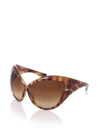 Tom Ford Women's FT0219 Sunglasses, Light Tortoise Brown, One Size