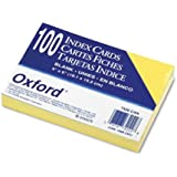 Oxford(R) Colored Recycled Index Cards, Unruled, 4in. x 6in., Canary, Pack Of 100