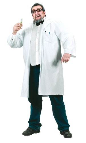 Plus Size Mad Scientist or Doctor Costume - Mens Full