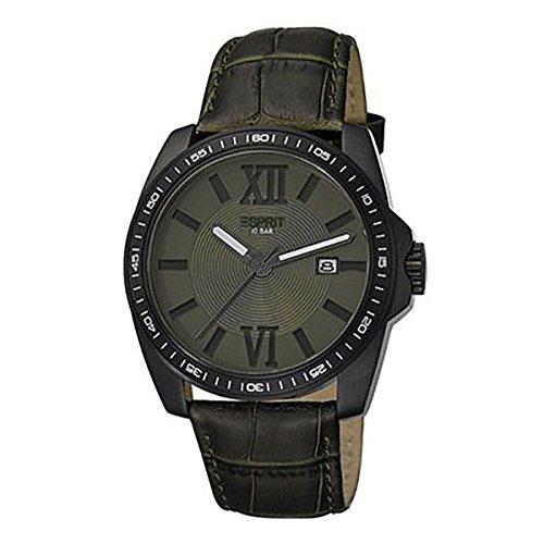Esprit ES103601003 - Reloj de pulsera hombre, Acero inoxidable, color Verde