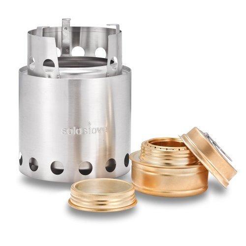 solo stove(ソロ ストーブ)とソロ アルコールバーナーコンボ、ウッドバーニングストーブ、キャンプストーブ、バックパッキングストーブ、サバイバルストーブ、非常用、防災用ストーブ、コンロ、ウッドガスストーブ、バックアップアルコールストーブ