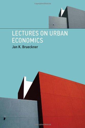 Lectures on Urban Economics