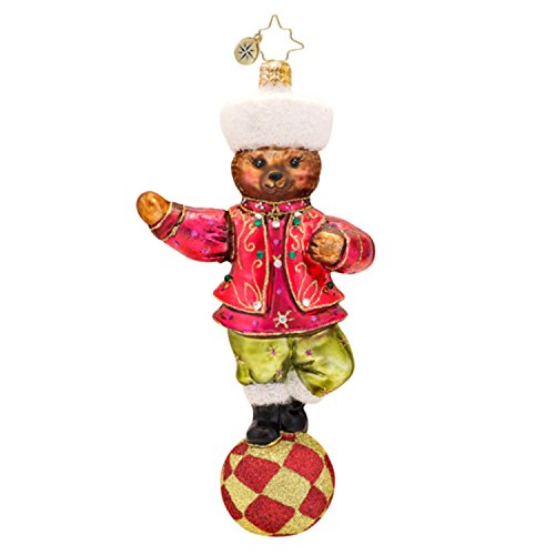 Christopher Radko Glass Czar of the Ring Teddy Bear Christmas Ornament #1017400