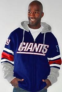 New York Giants NFL G-III 1 on 1 Jersey Hooded Premium Sweatshirt by G-III Sports