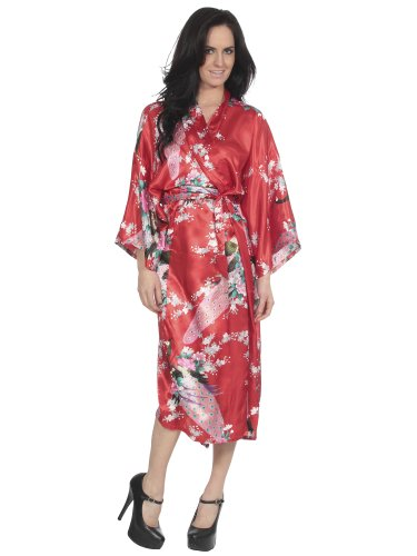 Lades Kimono Robe Pajama and Belt Sleepwear -
