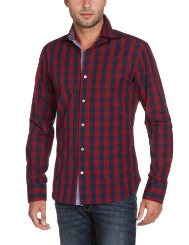 Marina Yachting Men's 220275223830 Casual Shirt Multicoloured (Rot/Blau 487) 40