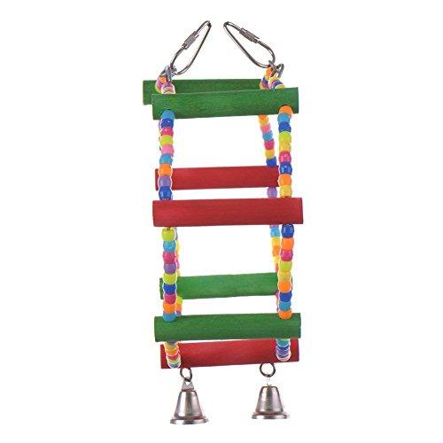 la vie escalier perchoir multicolore jouet de cage en anneau tr s magnifique chelle 4 89. Black Bedroom Furniture Sets. Home Design Ideas