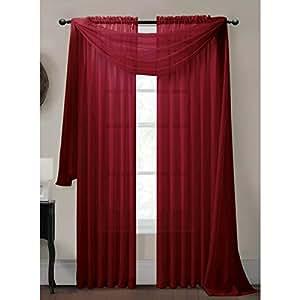 Window Elements Diamond Sheer Voile Curtain