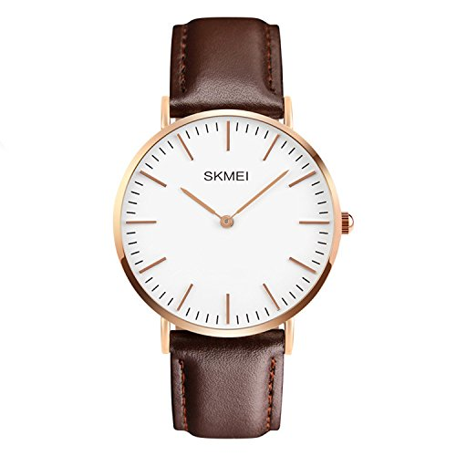CakCity-Mens-Casual-Classic-Stainless-Steel-Analog-Wrist-Business-Watch-With-Brown-Leather-Band