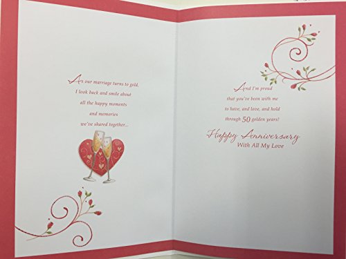 Popular anniversary cards for husband husband 50th wedding