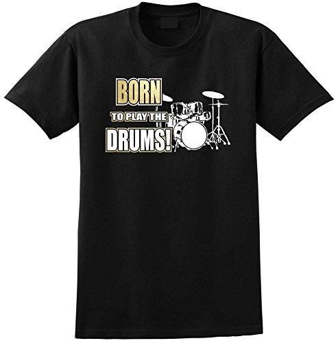 Drum-Kit-Born-To-Play-Music-T-Shirt-13-Gren-5-Jahr-6XL-MusicaliTee