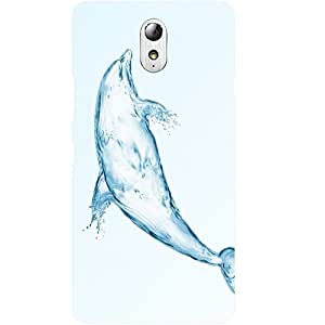 Casotec Abstract Dolphin Design Hard Back Case Cover for Lenovo Vibe P1M