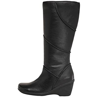Hush Puppies Womens Pritlam Long Boots Black