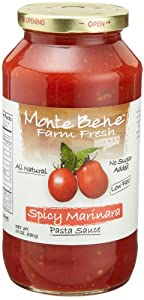 Monte Bene Spicy Marinara 24-ounce Glass Jars Pack Of 6 by Monte Bene