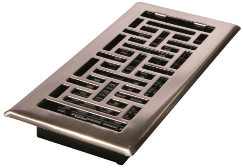 Decor grates ajh410 nkl 4 inch by 10 inch oriental floor for Decor grates